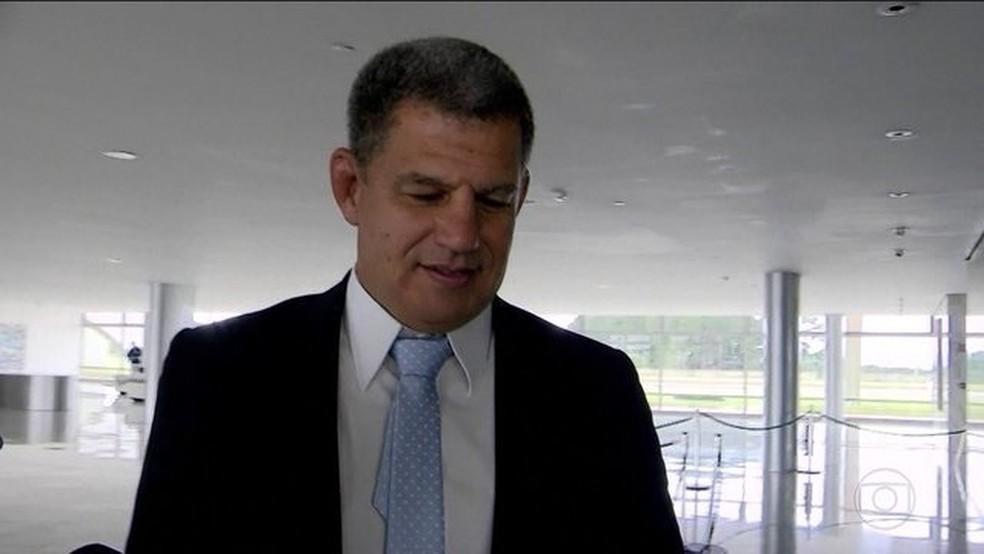 O ministro da Secretaria-Geral da Presidência, Gustavo Bebianno — Foto: Reprodução/JN