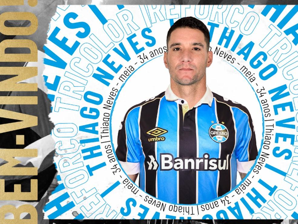 Imagem do anúncio de Thiago Neves — Foto: Divulgação
