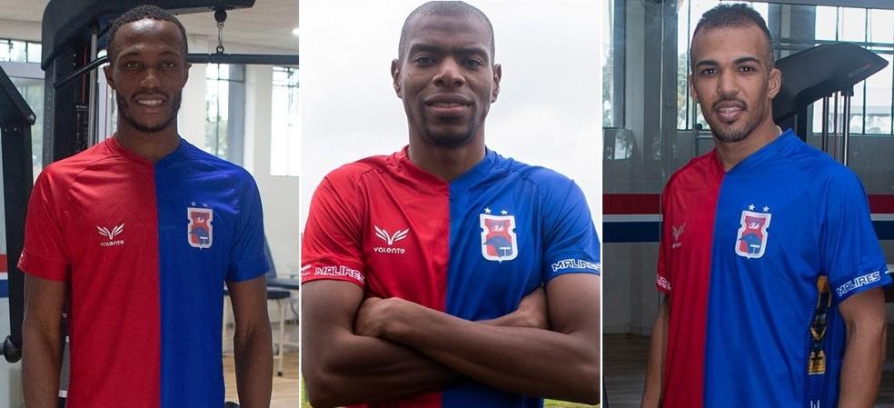 Hurtado, Salazar e Toninho: reforços do Paraná até agora — Foto: Rui Santos/Paraná Clube