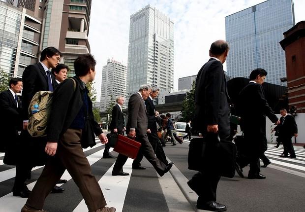 japão, trabalhadores japoses, trabalho, tóquio (Foto: Junko Kimura/Getty Images)