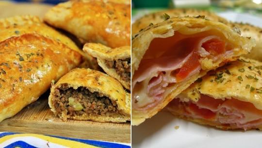 Aprenda duas receitas de pastelzinho assado com massa pronta
