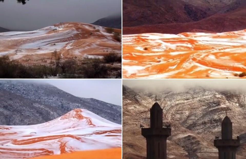 Fenômeno raro em aldeia argelina