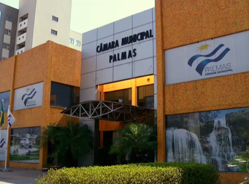 Câmara de vereadores de Palmas (Foto: Reprodução/TV Anhanguera)