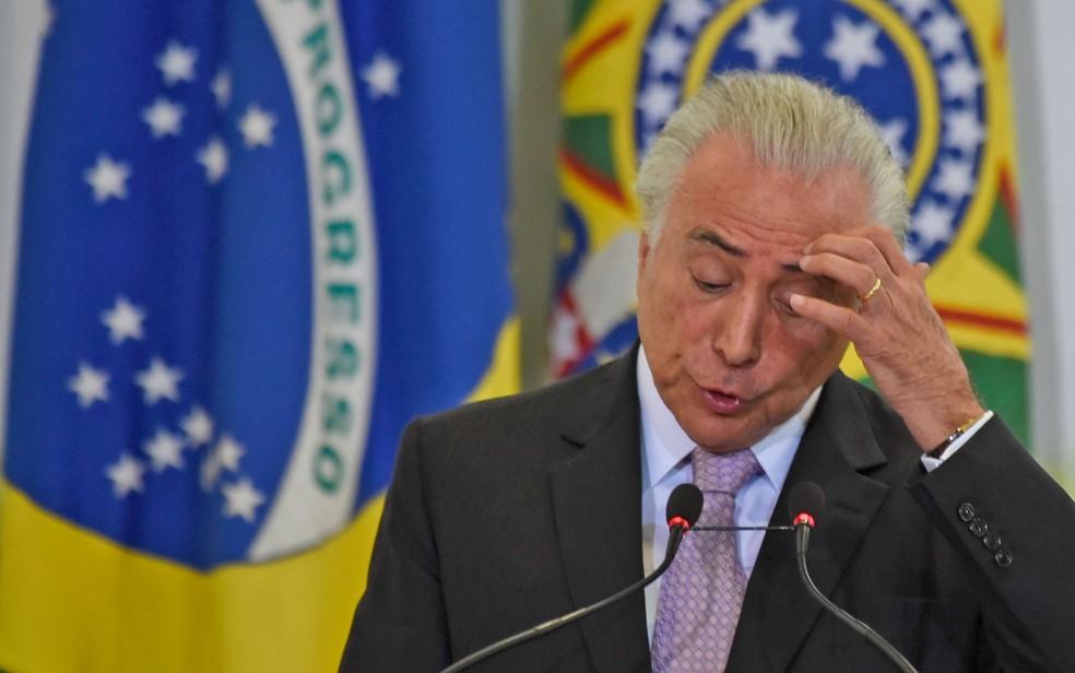 Governo do presidente Michel Temer é aprovado por 4% e reprovado por 79% dos ouvidos pela pesquisa Ibope realizada em junho (Foto: Mateus Bonomi/Agif/Estadão Conteúdo)