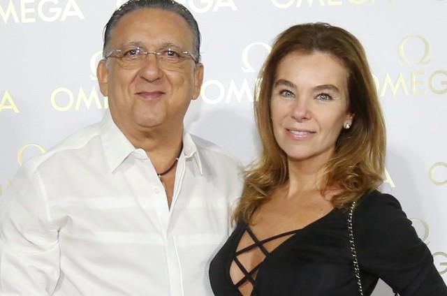 Galvão Bueno e Desirée (Foto: O Globo)
