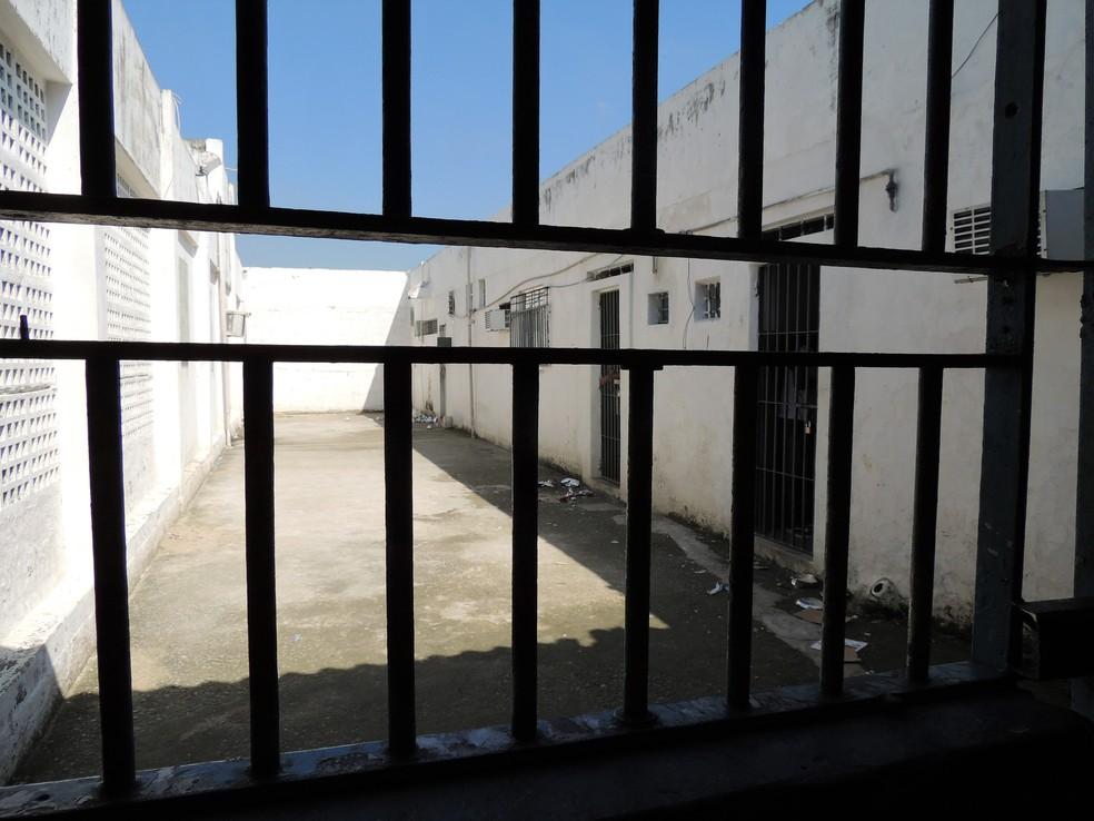 Obras pendentes em unidade prisional do RJ — Foto: Thathiana Gurgel / Divulgação / Defensoria Pública do RJ