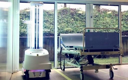 Coronavírus: os robôs usados para eliminar vírus em hospitais