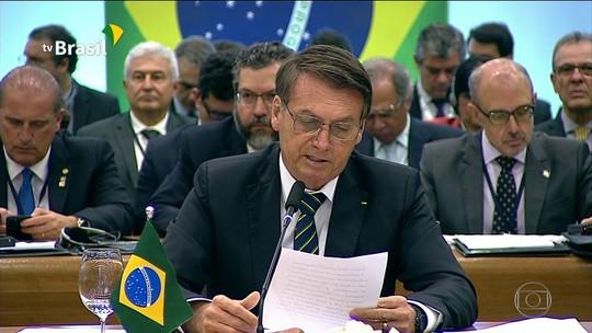 Bolsonarodiscursa no encerramento da Cúpula do Brics, em Brasília