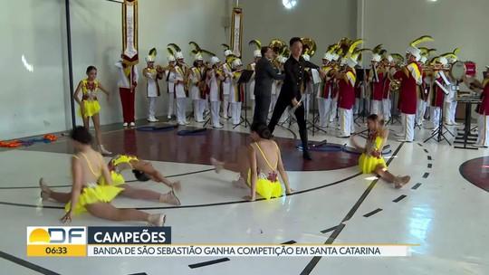 Banda de São Sebastião ganha campeonato em Santa Catarina