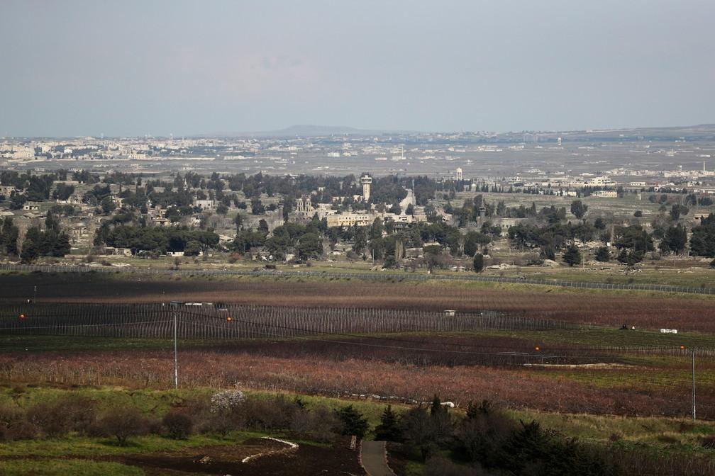 Fronteira entre Síria e Israel na região ocupada das Colinas de Golã — Foto: Ammar Awad/Arquivo/Reuters
