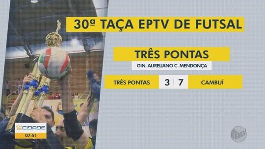 Veja os resultados dos jogos da Taça EPTV de Futsal