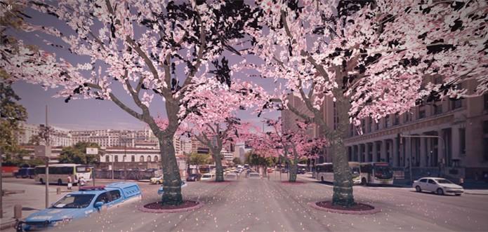 Google Maps primavera (Foto: Reprodução/Sakura Dream)