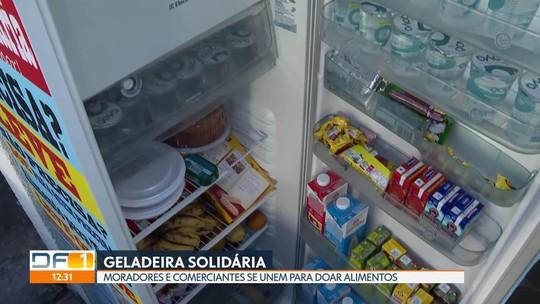 Moradores e comerciantes do Colorado instalam geladeira solidária na região