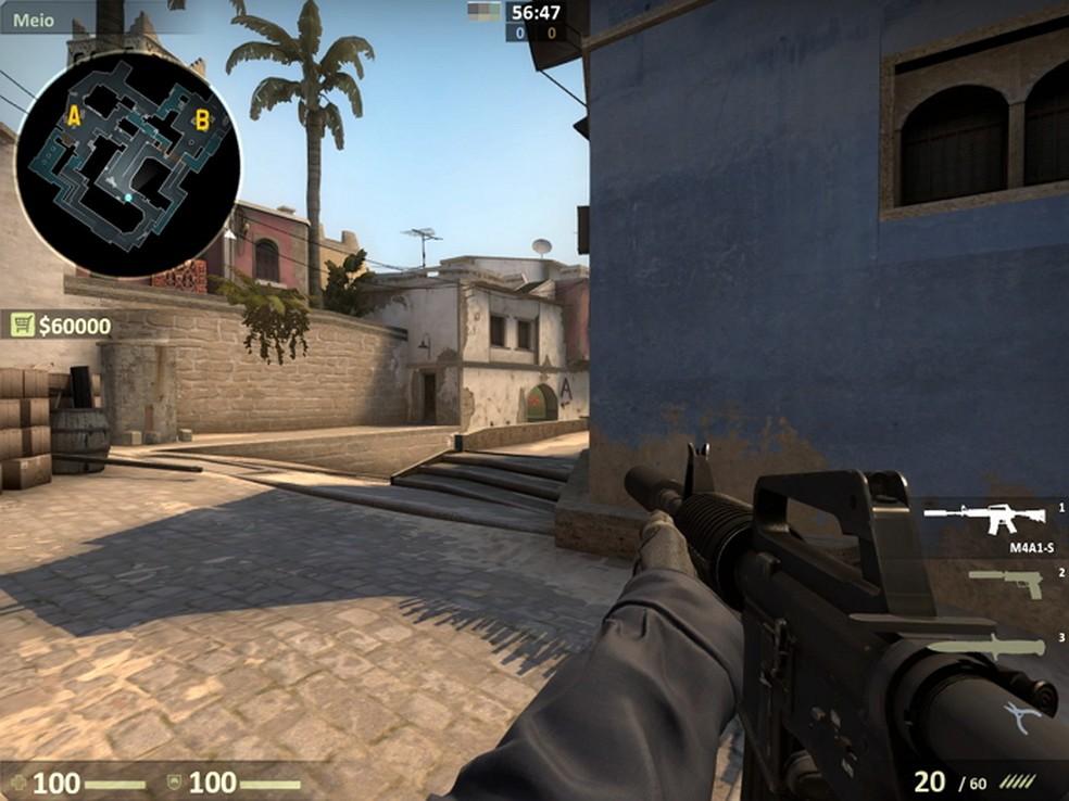 Desenvolvedores apostam em texturas mais claras para melhorar a visibilidade no mapa Mirage (Foto: Reprodução/Gabriel Saguias)