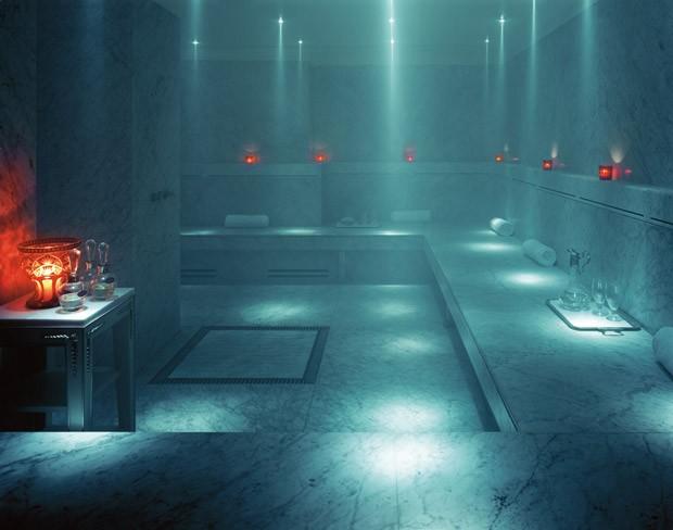 A sauna do hotel argentino (Foto: Divulgação)