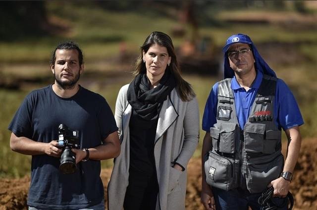Pedro Machado, Mariana Queiroz e Luciano Ribeiro (Foto: Douglas Magno)