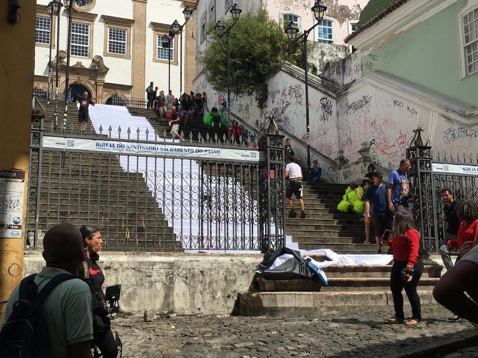 Anitta grava novo clipe em Salvador — Foto: Itana Alencar/G1 Bahia