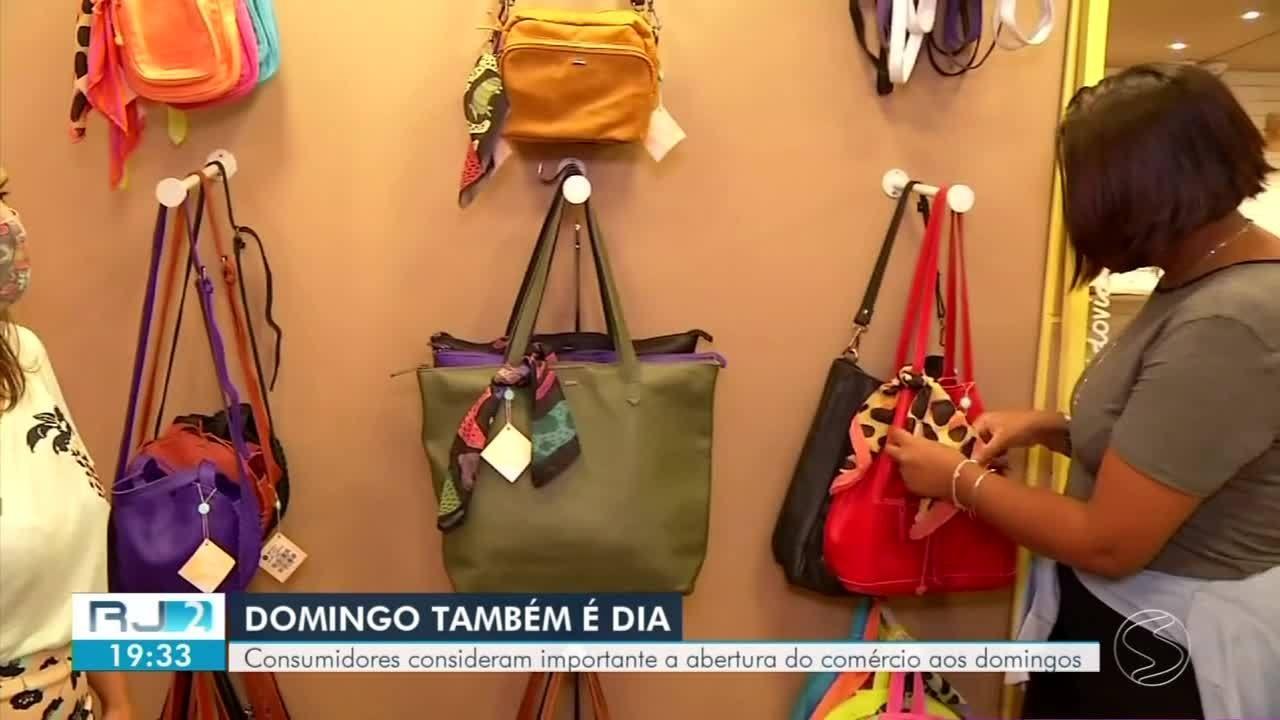 Levantamento aponta que consumidores aproveitam a abertura do comércio aos domingos