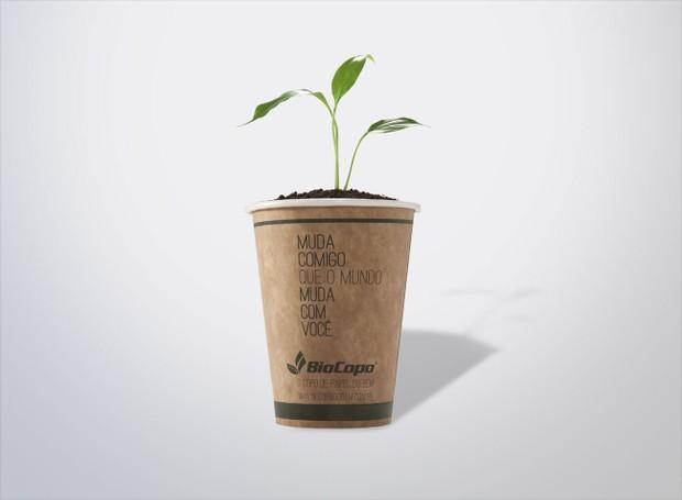 Embalagem sustentável da BioCopo (Foto: BioCopo/ Reprodução)