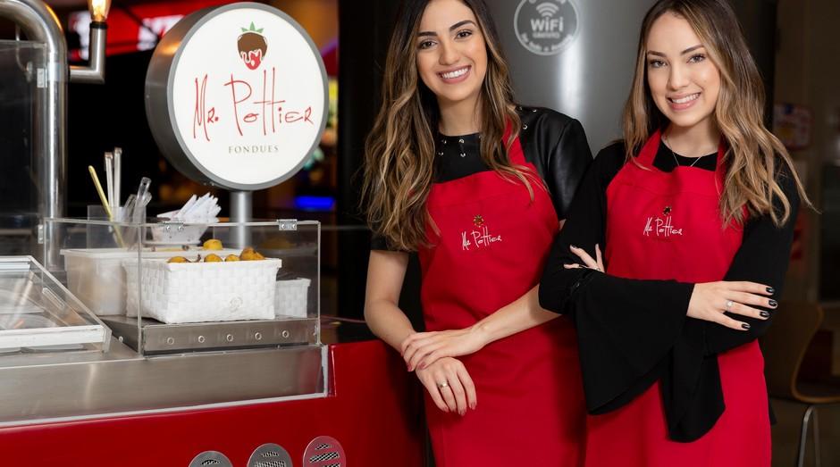 As irmãs Izabella e Amanda são fundadoras da Mr. Pottier, que faz sobremesas gourmet (Foto: Divulgação)