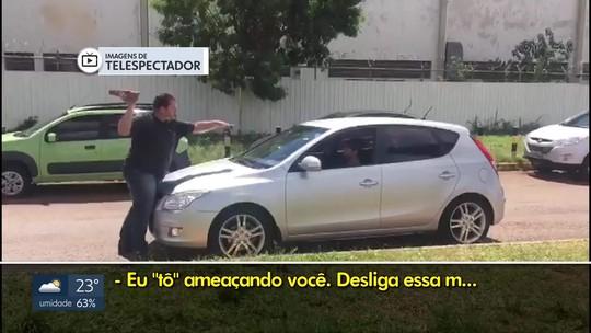 Uber expulsa motorista que ameaçou homem com pedra no Aeroporto de Brasília