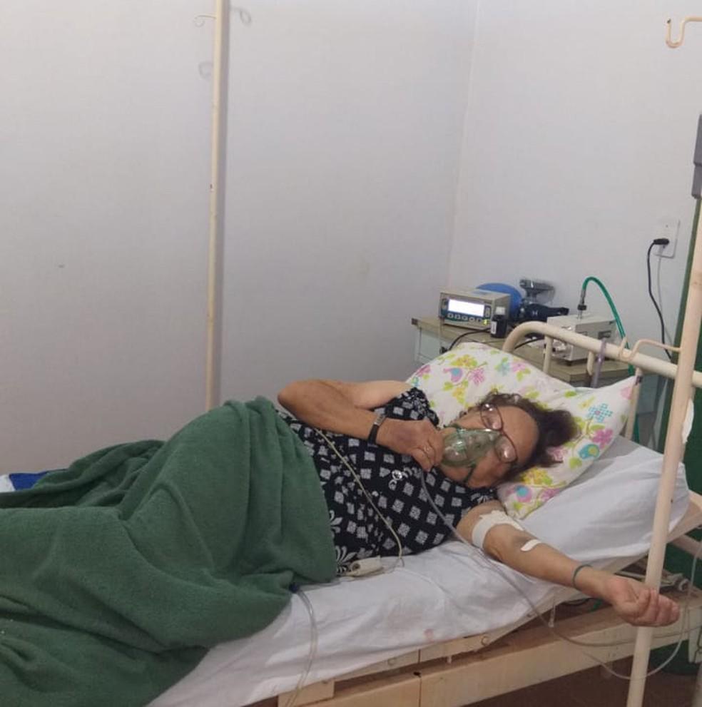 Aracy Leoncine em São José do Xingu (MT) antes da transferência para Cuiabá — Foto: Arquivo pessoal