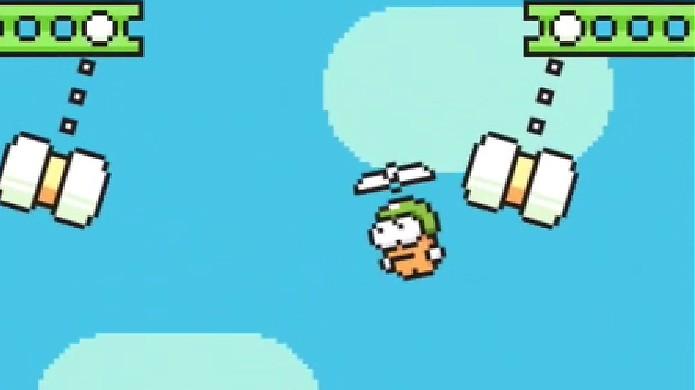 Swing Copters é basicamente um Flappy Bird vertical (Foto: Reprodução)