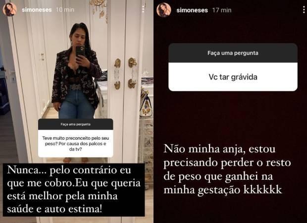 Simone Mendes  responde a perguntas os seguidores (Foto: Reprodução/Instagram)