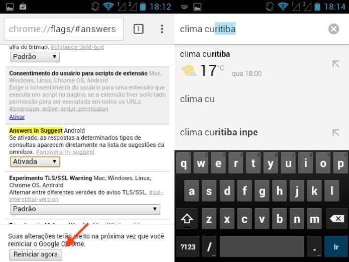 Reinicie o navegador para ativar o recurso (Foto: Reprodução/Helito Bijora)