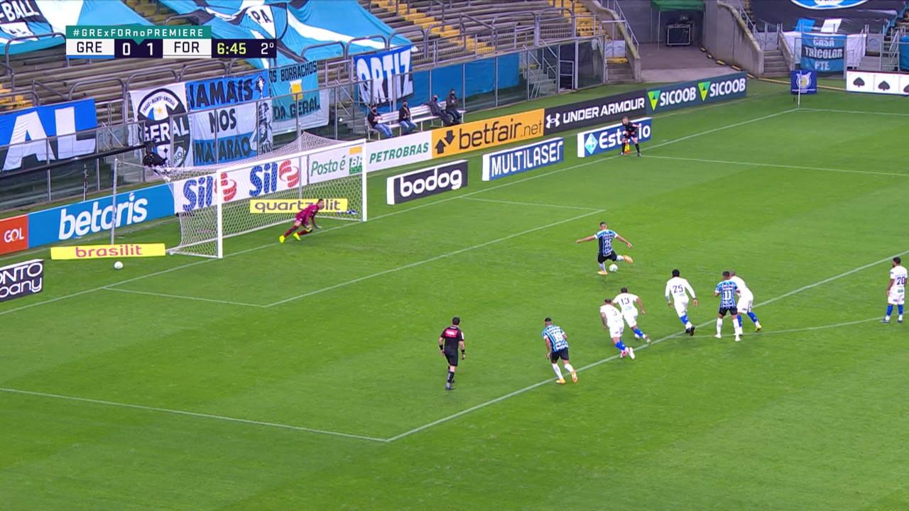 Diego Souza faz o gol no empate contra o Fortaleza, pela 10ª rodada