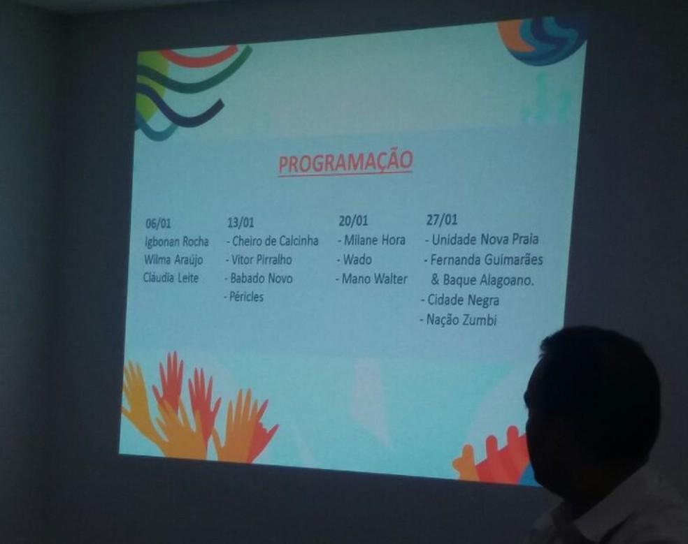 Programação local também faz parte do Maceió Verão 2018  (Foto: Suely Melo/ G1)