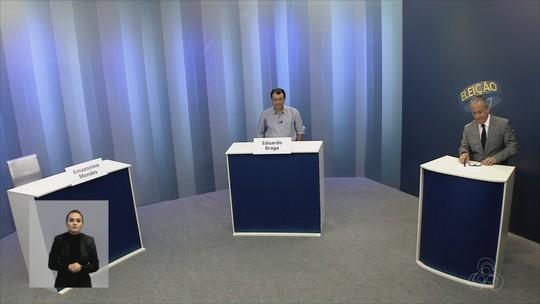 Eduardo Braga é entrevistado na Rede Amazônica, em Manaus; Amazonino Mendes não vai a debate