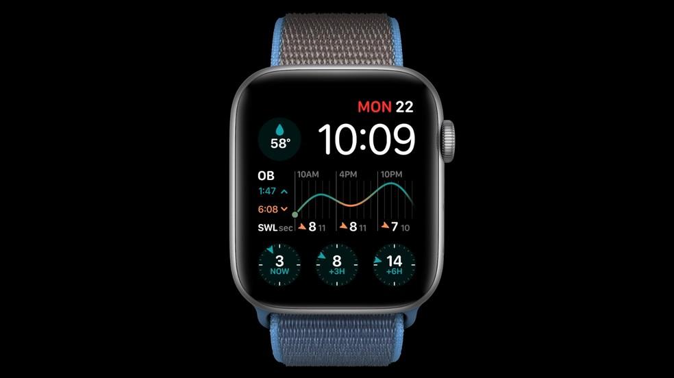 """watchOS 7 ganhou novo modo """"Sono"""" — Foto: Reprodução/Apple"""