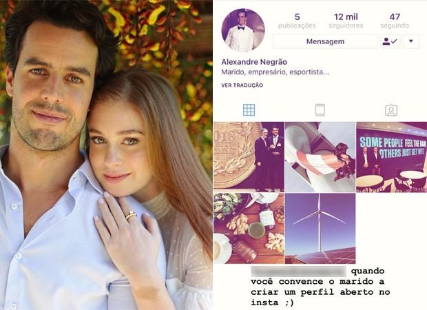 Marina Ruy Barbosa e Xande Negrão (Foto: Reprodução / Instagram)