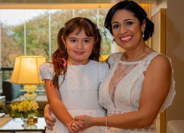 Laura e Valeska, fiilha e mulher de Dudu Braga (Foto: Reprodução/ Instagram)