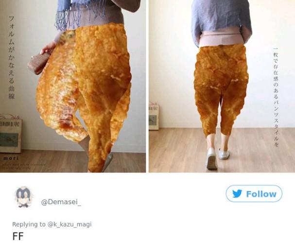 Calça vendida no Japão vira meme (Foto: Twitter/Reprodução)