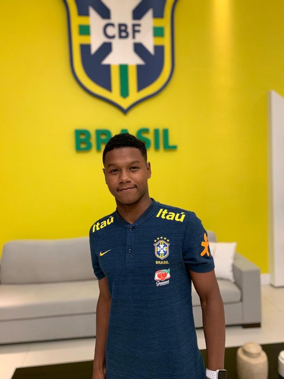Matheus França, do Flamengo, é figura constante na Seleção Sub-15 — Foto: Arquivo Pessoal