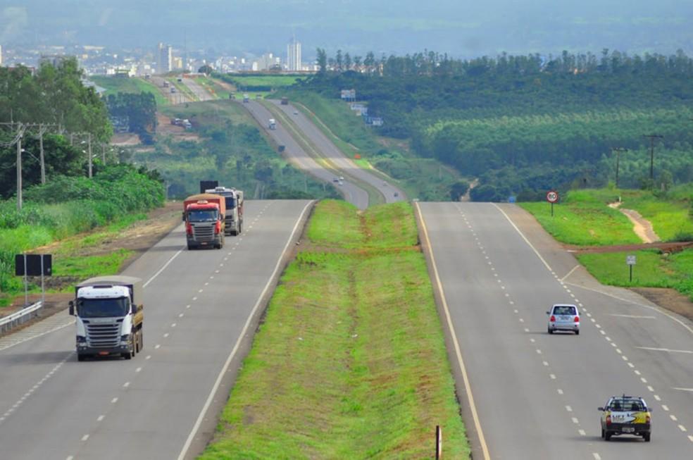 BR-163, próximo a Rondonópolis (Foto: Rota do Oeste)