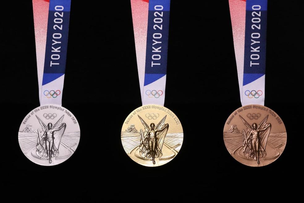Medalhas das Olimpíadas de Tóquio — Foto: Divulgação/Tokyo 2020