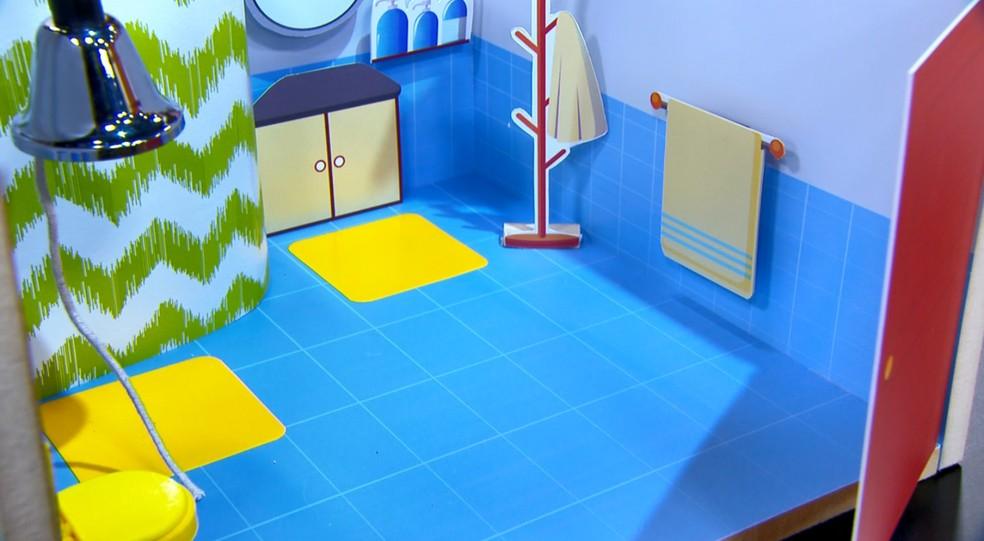 Banheiro: um lugar perigoso para os idosos — Foto: Reprodução/TV Globo
