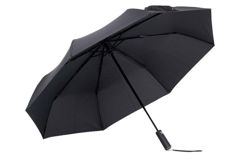 O guarda-chuva da Xiaomi possui botão de acionamento — Foto: Divulgação/Xiaomi