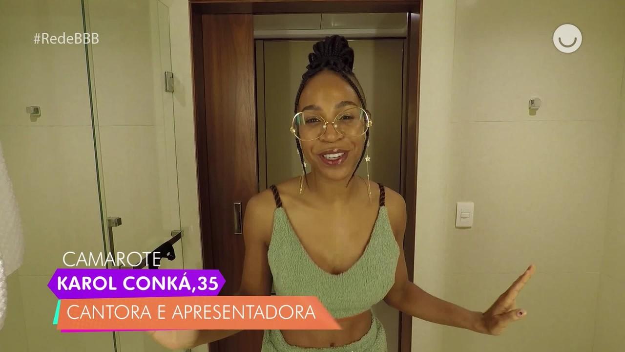 Karol Conká, do BBB21, responde quiz no Diário do Confinamento