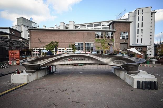 Primeira ponte de aço impressa em 3D será instalada em Amsterdã (Foto: Adriaan de Groot/Divulgação)