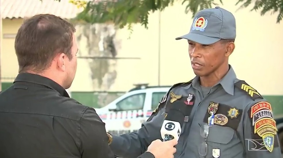 Sargento da Polícia Militar discutiu com prefeito de Anajatuba e pediu pra sair do comando da cidade — Foto: Reprodução / TV Mirante