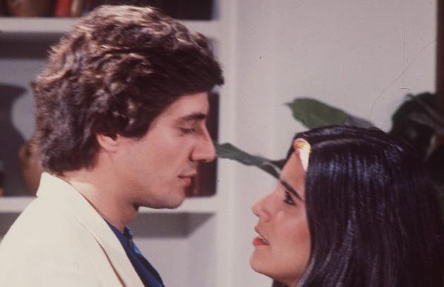 Em 'Louco amor', Glória foi Cláudia, colega de faculdade de Luiz Carlos (Fábio Jr.) (Foto: Divulgação/TV Globo)