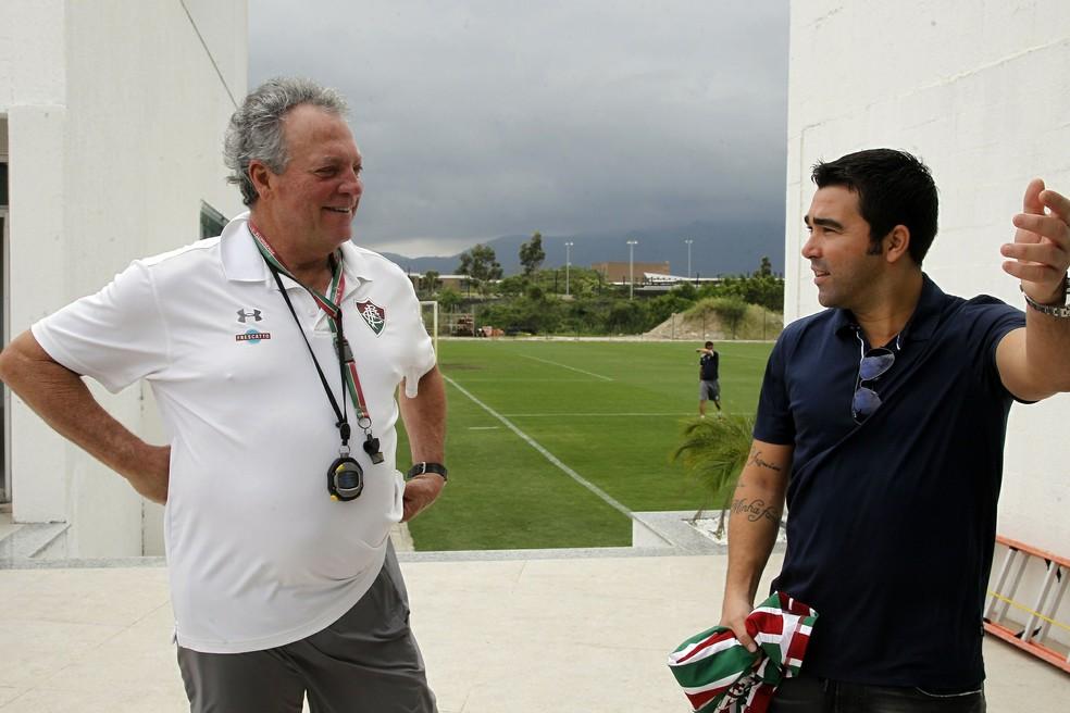 Deco em visita recente ao CT do Fluminense (Foto: Nelson Perez/FluminenseFC)
