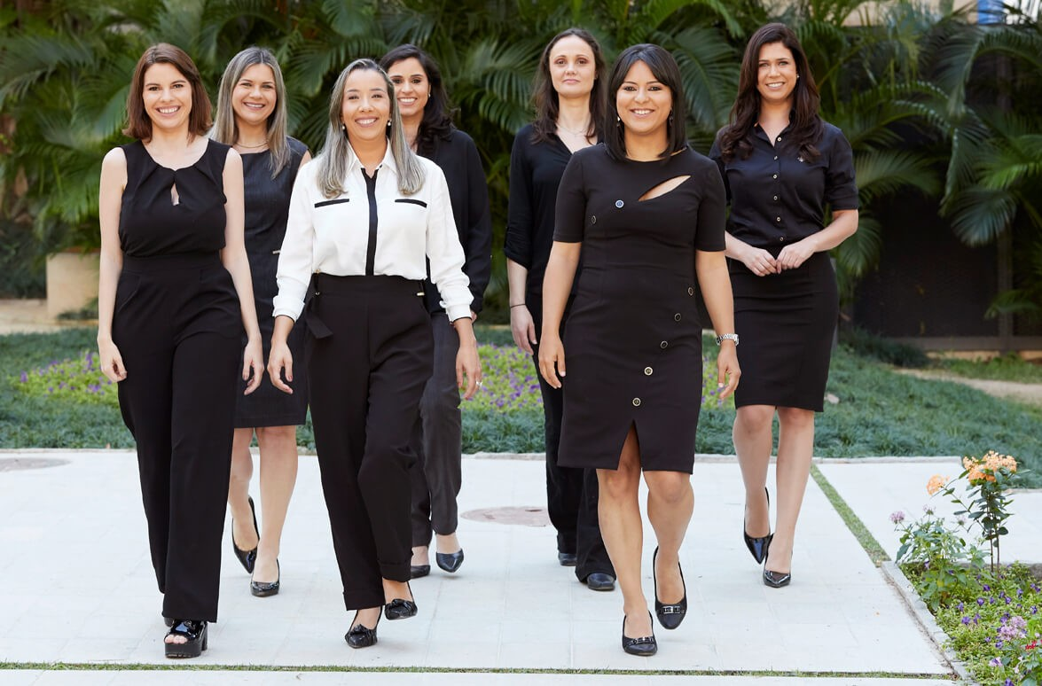 As sete pesquisadoras vencedoras do prêmio Para Mulheres na Ciência 2019 (Foto: Divulgação/Para Mulheres na Ciência)