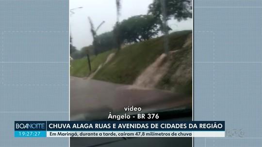 Chuva forte provoca enxurradas e alagamentos em cidades da região norte do Paraná; VÍDEOS