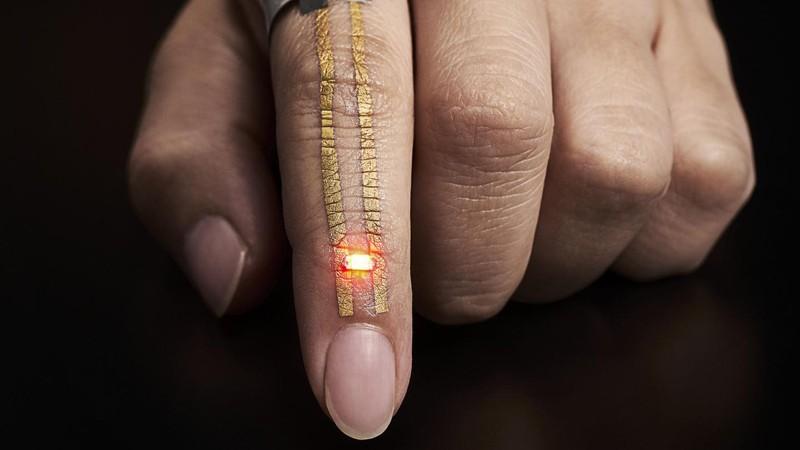 Sensores da pele artificial (Foto: 2017 Someya Laboratory)