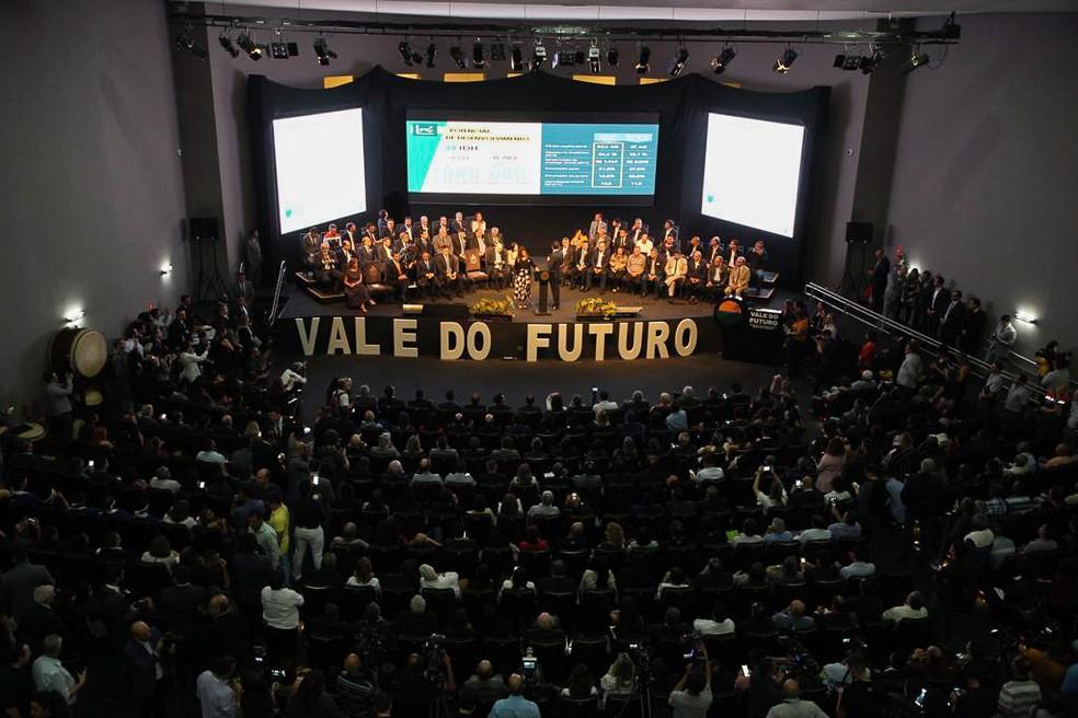 """Lançamento do """"Vale do Futuro"""" aconteceu na capital paulista — Foto: Divulgação/Governo do Estado de SP"""